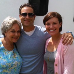 Actor Danny Fehsenfeld on set for Cerritos Auto Square